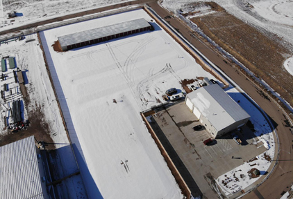 Platteville facility overhead view